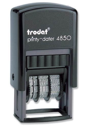 Trodat EcoPrinty 4850/L1 Self Inking RECEIVED & Date Stamp Red/Blue