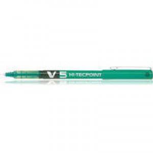 Pilot V5 Rollerball Pen Needle Tip 0.5mm Line 0.3mm Green Code V504