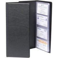 Goldline Classic Business Card Holder PVC 64 Pockets for 128 Cards 280x110mm Black Code CBC4P