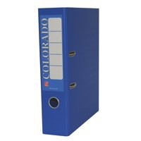 Rexel Colorado Lever Arch File Plastic 80mm Spine A4 Blue Ref 28143EAST [Pack 10]