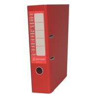 Rexel Colorado Lever Arch File Plastic 80mm Spine A4 Red Code 28148EAST