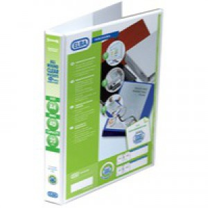 Elba Panorama Presentation Binder PVC 3 Cover Pockets 4 D-Ring 25mm A4 White Code 400001391