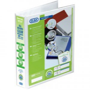 Elba Panorama Presentation Binder PVC 3 Cover Pockets 4 D-Ring 40mm A4 White Ref 400001300 [Pack 10]