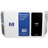 HP No.80 Inkjet Cartridge 350ml Black Code C4871AE