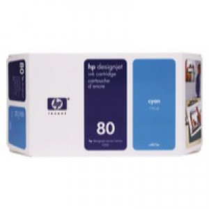HP No.80 Inkjet Cartridge 350ml Cyan Code C4846AE