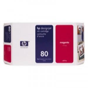 Hewlett Packard [HP] No. 80 Inkjet Cartridge 350ml Magenta Ref C4847AE