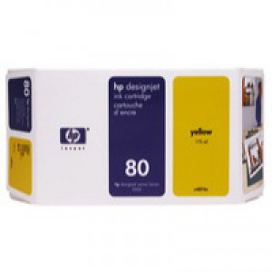 HP No.80 Inkjet Cartridge 350ml Yellow Code C4848AE