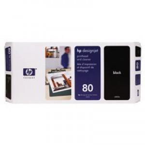 Hewlett Packard [HP] No. 80 Inkjet Printhead and Cleaner Black Ref C4820AE