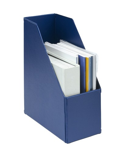 Concept Magazine Rack File Plastic Jumbo 110mm Blue A4 [Pack 5]