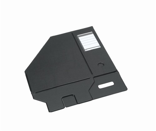 Magazine Rack File Plastic Jumbo 110mm A4 Black Pack 5