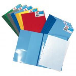 Rexel Nyrex Boardroom Flat File Semi-rigid with Inside Front Full Pocket A4 Blue Ref 13035BU [Pack 5]