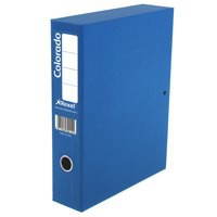Rexel Colorado Box File with Lock Spring 70mm Spine A4 Blue Code 30443EAST