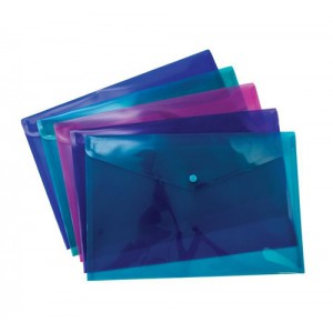 Pukka Stud Wallet File Vibrant Polypropylene Foolscap Assorted Pack 5