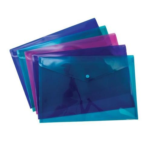 Pukka Stud Wallet File Vibrant Polypropylene Foolscap Assorted Pack 5