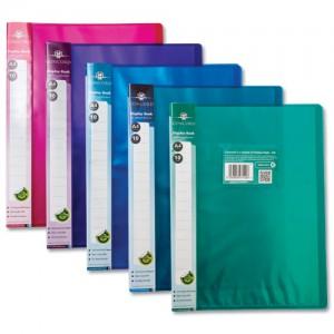 Pukka Display Book Flexible Polypropylene 10 Pockets A4 Assorted Pack 10