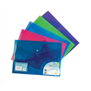 Pukka Stud Wallet File Vibrant Polyplus with Gusset A4 Assorted Pack 5