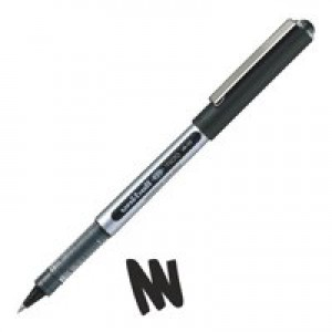 Uni-ball Eye UB150 Rollerball Pen Micro 0.5mm Tip 0.2mm Line Black Ref UB150BLK [Pack 12]
