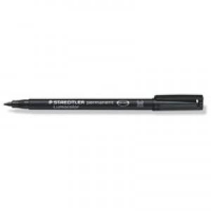Staedtler Lumocolor Permanent Pen Medium 0.8mm Line Black Code 317-9