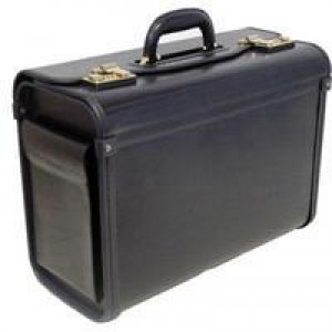 Monolith Pilots Case Bonded Leather Black 2271