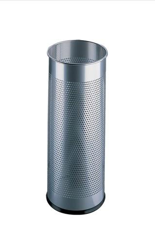 Durable Umbrella Stand Metal Round Silver 28.5Litre Code 3350/23