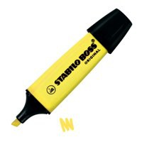 Stabilo Boss Highlighters Chisel Tip 2-5mm Line Yellow Code 70/24/10