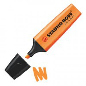 Stabilo Boss Highlighters Chisel Tip 2-5mm Line Orange Code 70/54/10