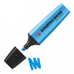 Stabilo Boss Highlighters Chisel Tip 2-5mm Line Blue Code 70/31/10