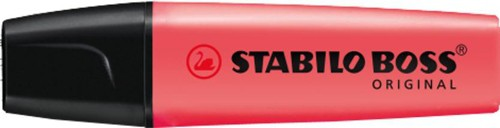 Stabilo Boss Highlighters Chisel Tip 2-5mm Line Red Code 70/40/10