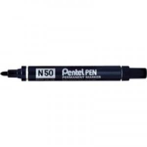 Pentel N50 Permanent Marker Bullet Tip 1.5-2.2mm Line Black