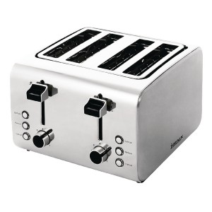 Toaster Defrosting Variable Browning 4 Slice 1800W Stainless Steel