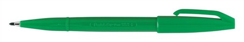 Pentel Sign Pen S520 Fibre Tipped 2.0mm Tip 1.0mm Line Green Ref S520-D [Pack 12]