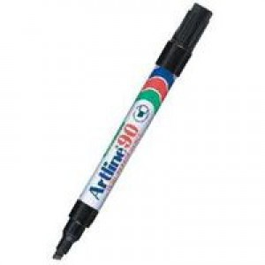Artline 90 Marker Chisel Tip Black A901