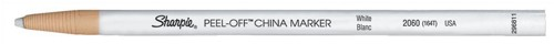 Sharpie China Wax Marker Pencil Peel-off Unwraps to Sharpen White Ref S305101 [Pack 12]