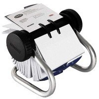 Rolodex Classic 200 Rotary Business Card Index File with 200 Sleeves 24 A-Z Index Tabs Chrome Ref 67237