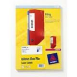 Avery 60mm Box File Laser Labels 41x100mm 12 Per Sheet 300 Labels Code L7176-25