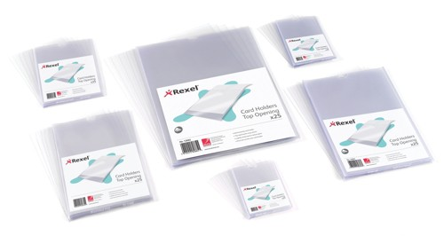 Rexel Nyrex Card Holder Open On Short Edge 200x125mm Code 12050