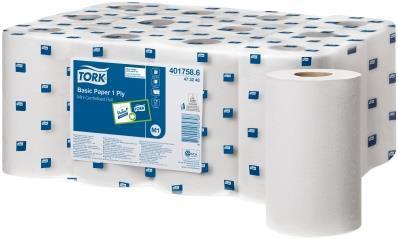 Tork Reflex Wiping Paper 1 ply White