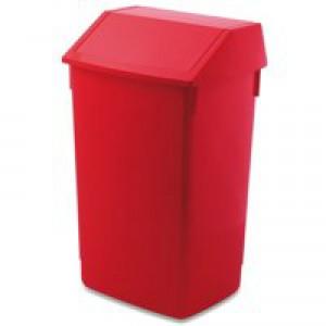 Addis Flip Top Bin Composite Plastic W320xD410xH685mm 54 Litres Red Ref 510800