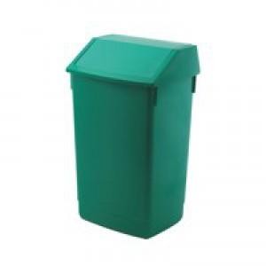 Flip Top Bin Composite Plastic 54 Litres Green