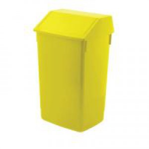 Flip Top Bin Composite Plastic 54 Litres Yellow