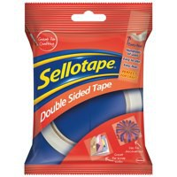 Sellotape Double Sided Self Adhesive Tape 12mmx33m Code 503884