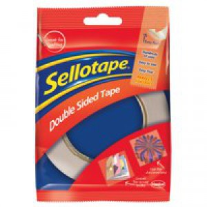 Sellotape Double Sided Self Adhesive Tape 25mmx33m Code 503885