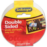 Sellotape Double Sided Self Adhesive Tape 50mmx33m Code 503886