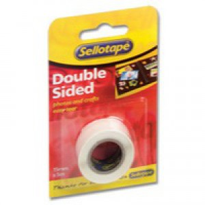 Sellotape Double Sided Tape 15mmx5m Code 484349
