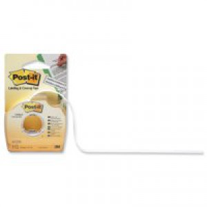 Post-it Labelling and Cover-up Tape Repositionable for 2 Lines W8.4mm Ref 652H [Pack 24]
