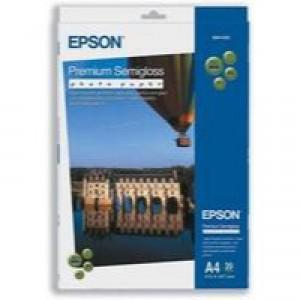 Epson Premium Photo Paper Semi-gloss 251gsm A4 Ref S041332 [20 Sheets]