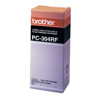 Brother Fax Ribbon Thermal Page Life 940pp Black Ref PC304RF [Pack 4]