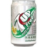 Britvic 7UP Light Soft Drink 330ml Can
