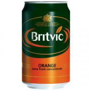 Britvic Orange Juice Pure Can 330ml Ref A02100 [Pack 24]