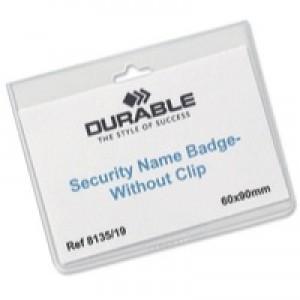Durable Security NameBadge No clip Pk20